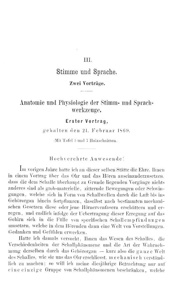 Czermak, Johann N. - Stimme und Sprache. Anatomie und Physiologie ...